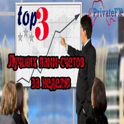 Рейтинг ТОП-3 лучших ПАММ-счетов PrivateFX за 05.09 — 11.09.2016