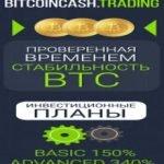 Bitcoincash Trading (от 150% после 1 дня до 5000% после 30 суток + 3% RCB + 1000$ Защита) — Отзывы и обзор свежего фаста, с быстрым заработком!